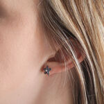 Lisa Bridge Sapphire & White Topaz Starfish Earrings