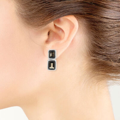 Lisa Bridge Convertible Smoky Quartz Earrings
