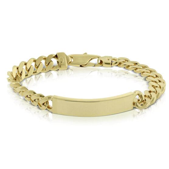 Toscano Miami Cuban Curb Chain ID Bracelet 14K