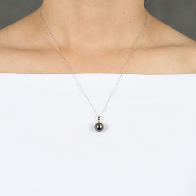 Cultured South Sea Tahitian Pearl Pendant 14K