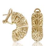 Toscano San Marco Half Hoop Earrings 18K