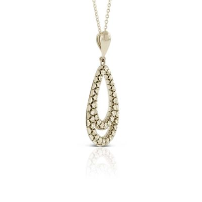 Toscano Open Pear Drop Pendant 14K