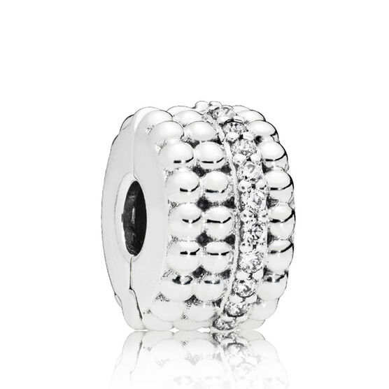 Pandora Beaded Brilliance CZ Clip