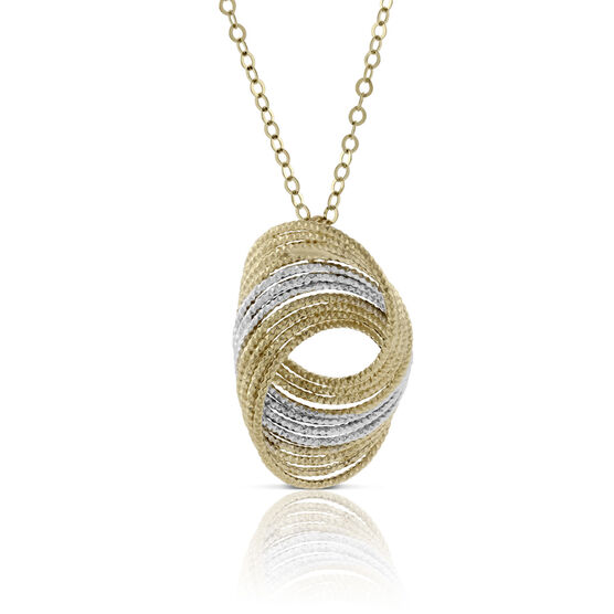 Toscano Twisted Wire Necklace 14K