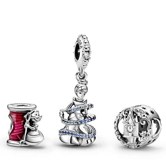 Pandora Disney Cinderella Enamel & CZ Charms Gift Set