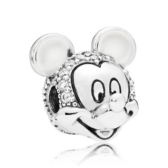Pandora Disney, Shimmering Mickey Portrait CZ Clip