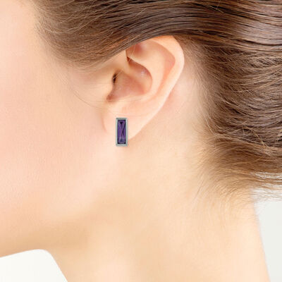 Lisa Bridge Amethyst Bar Earrings