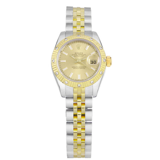 Pre-Owned Rolex Oyster Perpetual Lady Watch, 26mm, 18K & Steel