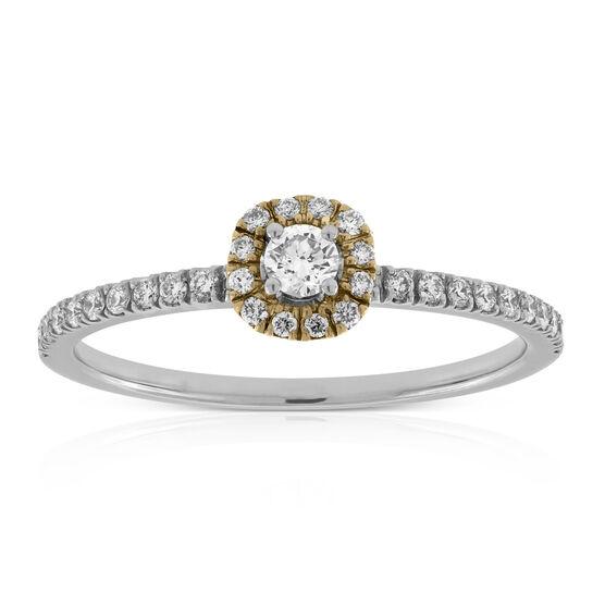 Diamond Halo Ring 14K