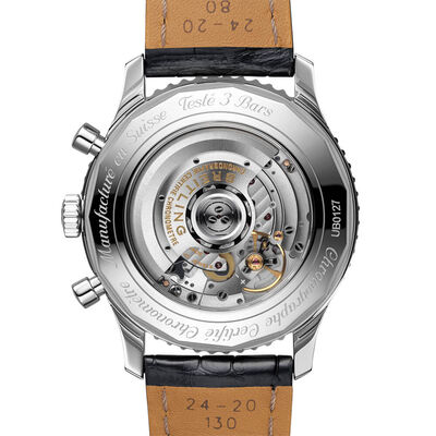 Breitling Navitimer B01 Chronograph 46 Black Watch, 18K & Steel