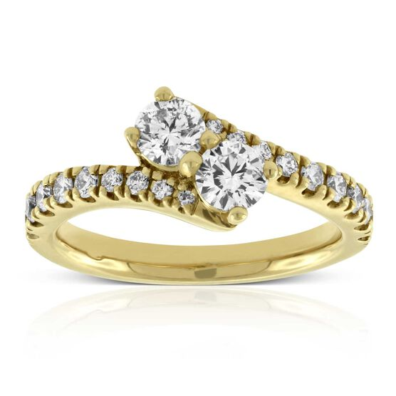 Perfectly Paired Diamond Ring 14K, .95 ctw.