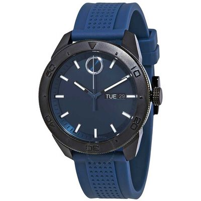 Movado Bold Blue & Black Ion Watch