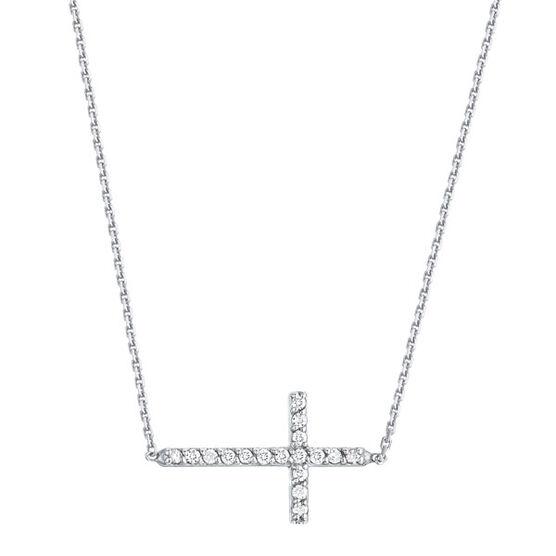 Diamond Cross Necklace 14K