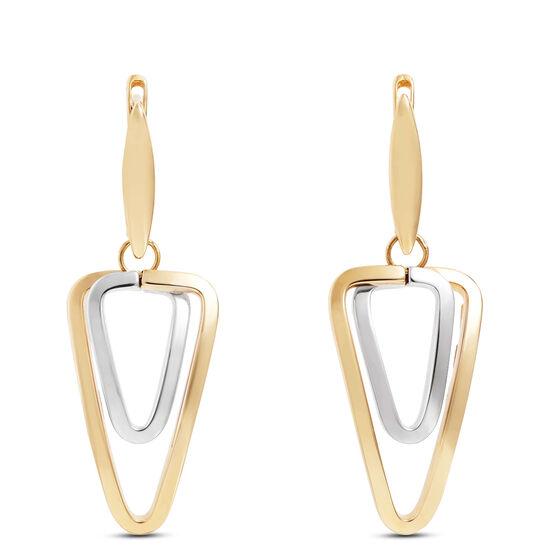 Toscano Double Link Triangle Earrings 18K