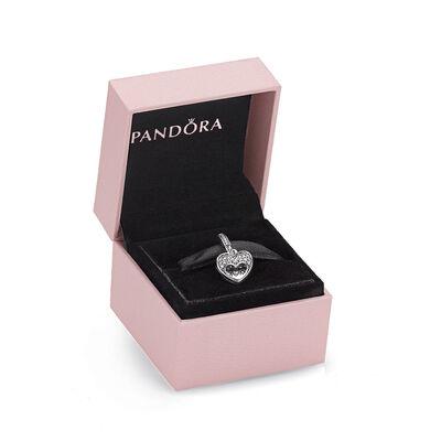 PANDORA I Love My Mom CZ Dangle Charm