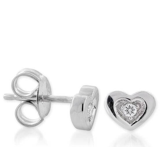 Heart Diamond Earrings 14K