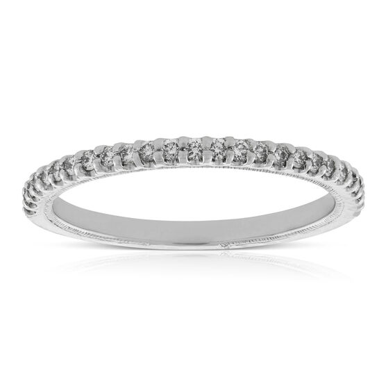 Engraved Diamond Band 14K