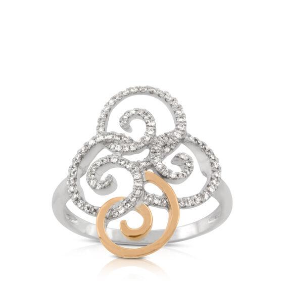 Diamond Spiral Ring 14K