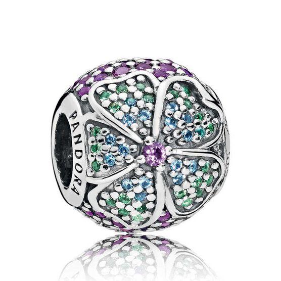 Pandora Glorious Bloom Crystals Charm