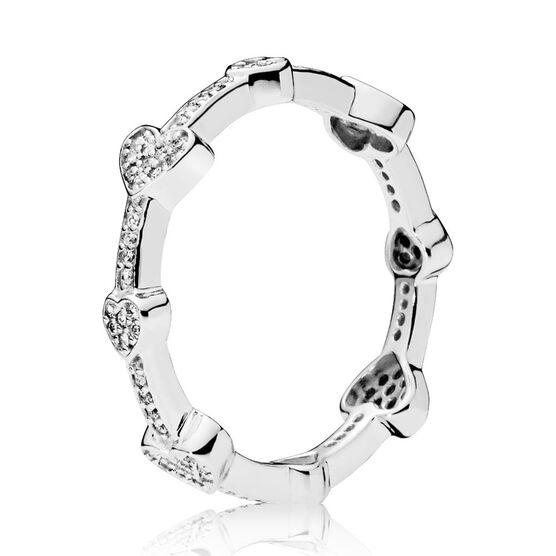 PANDORA Alluring Hearts CZ Ring