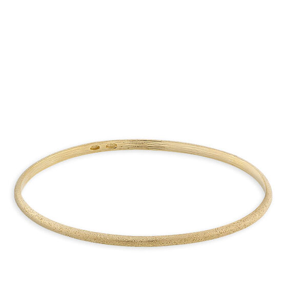 Oval Bangle Bracelet, 18K over Sterling Silver