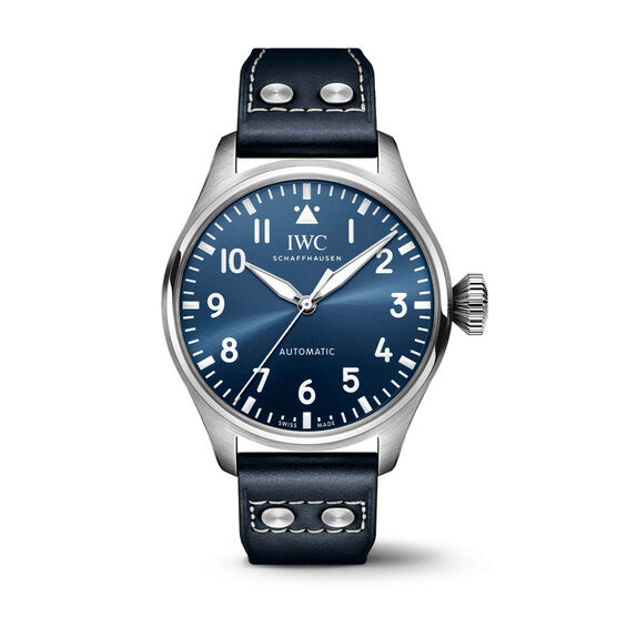 IWC Big Pilot's Watch 43 Blue Dial Leather, 43mm