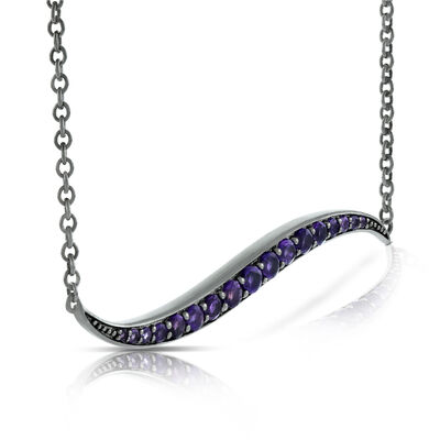 Lisa Bridge Amethyst Wave Necklace
