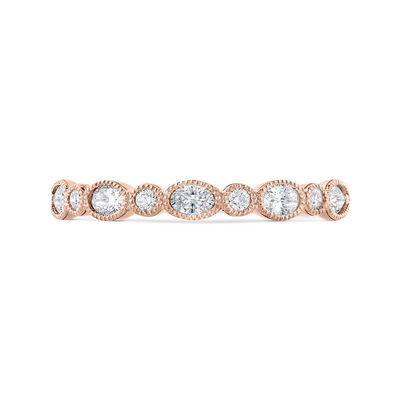 Bella Ponte Rose Gold Diamond Band 14K