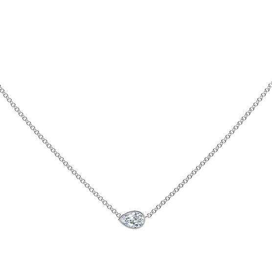 The Forevermark Tribute™ Collection Pear Diamond Necklace 18K