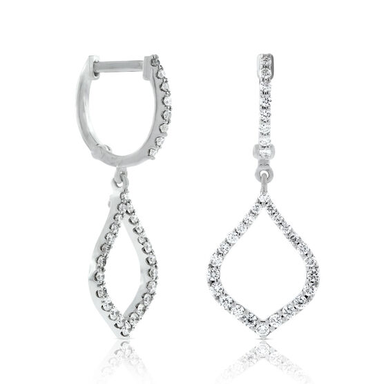 Roberto Coin Tiny Treasures Diamond Drop Earrings 18K