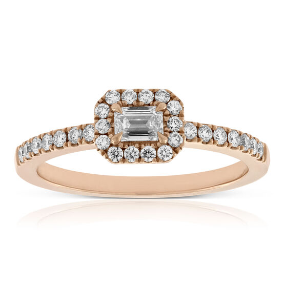 Forevermark Tribute™ Collection Rose Gold Diamond Ring 18K