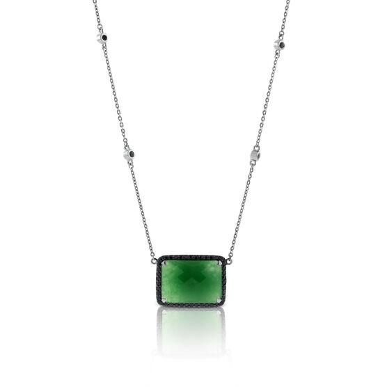 Lisa Bridge Chalcedony & Black Sapphire Necklace