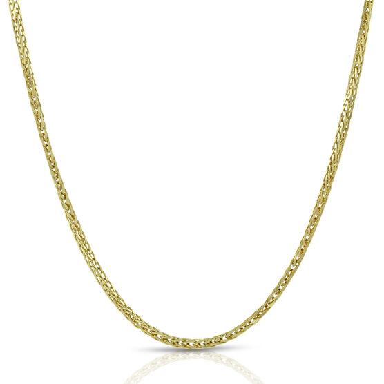 "Diamond Cut Spiga Chain 14K, 24"""