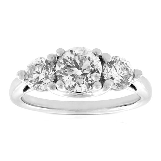 Ikuma Canadian 3-Stone Diamond Engagement Ring 14K