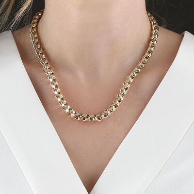 Toscano Spiga Chain Necklace 14K