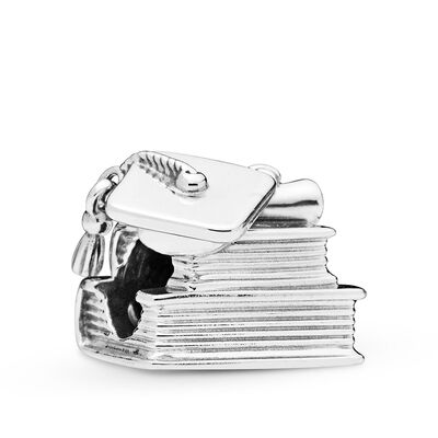 Pandora Cap, Book & Scroll Charm