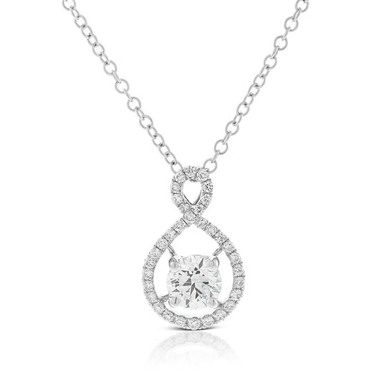 Ikuma Canadian Diamond Wide Infinity Pendant 14K
