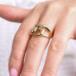 Toscano Chain Link Ring 14K