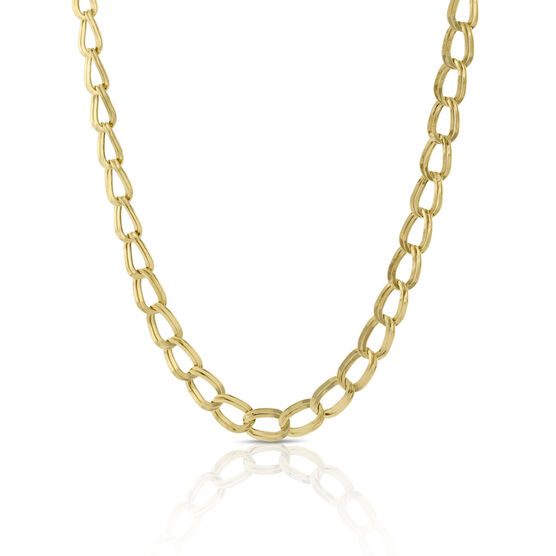 """Toscano Twin Link Necklace 14K, 18.5"""""""