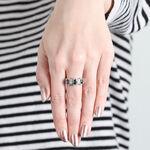 Montana Sapphire Ring with Diamonds 14K
