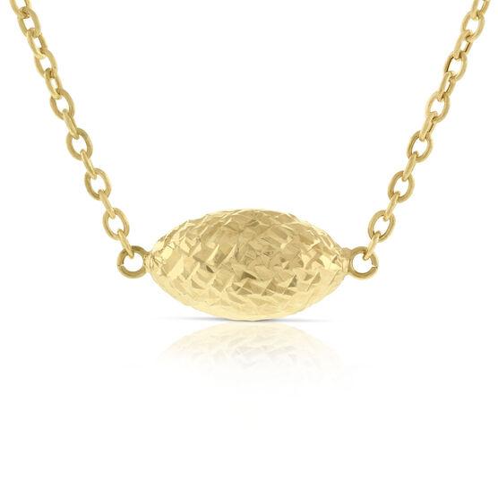 Toscano Sideways Bead Necklace 14K