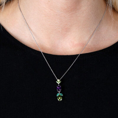 Lisa Bridge Multi-Gem Pendant