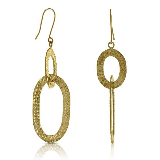 Oval Link Earrings 14K