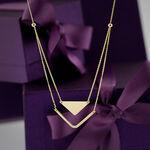 Chevron & Triangle Duet Necklace 14K