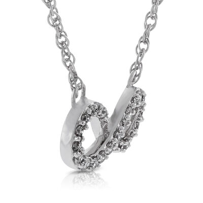 Diamond Infinity Necklace 14K