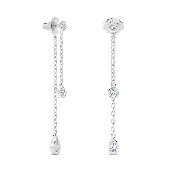 The Forevermark Tribute™ Collection  Diamond Drop Earrings 18K