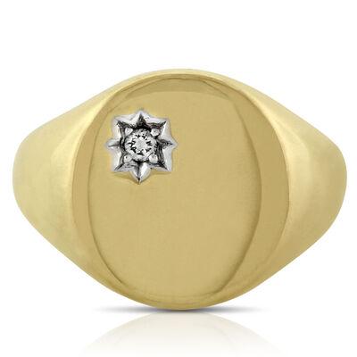 Men's Signet Ring 14K