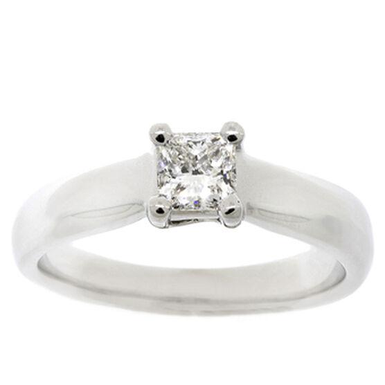 Ikuma Canadian Princess Cut Diamond Solitaire Ring 14K, 1/2 ct.