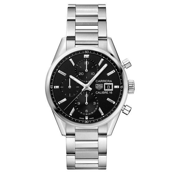 TAG Heuer Carrera Caliber 16 Black Dial Automatic Chrono Watch 41mm