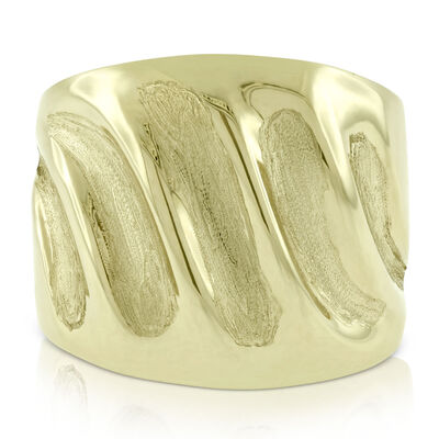 Toscano Fluted Ring 14K, Size 7